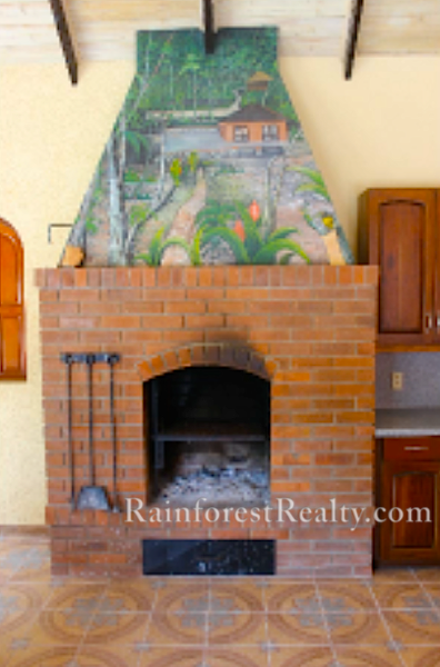 Belize Luxury Property with wood burning fire place
