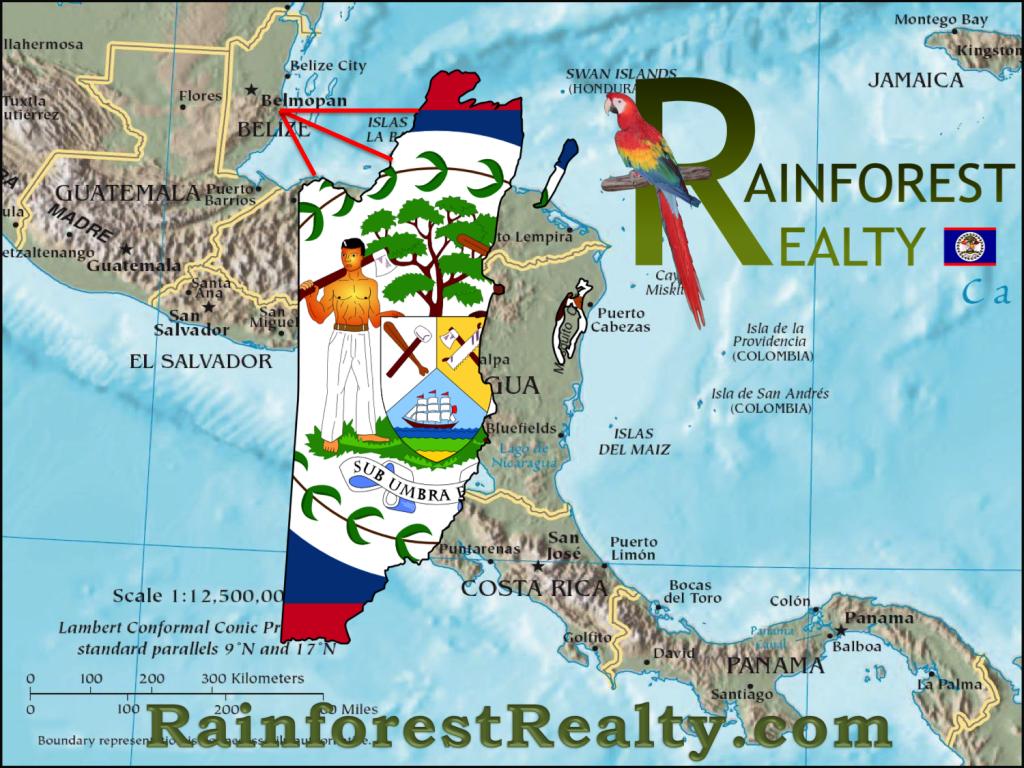 Belize Location in Central America