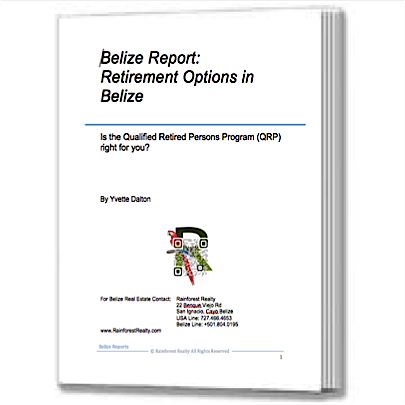 Retirement Options in Belize Report Book Cover Page