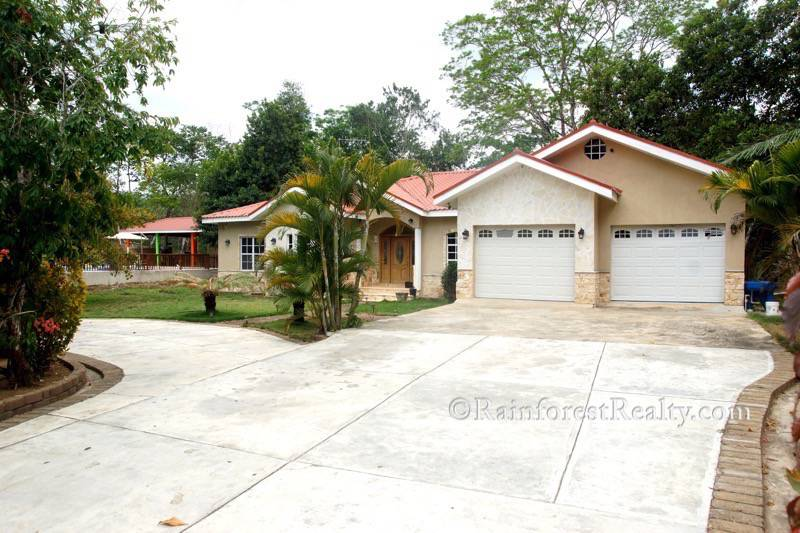 Belize Luxury Home featuring breathtaking cascading waterfalls_front view