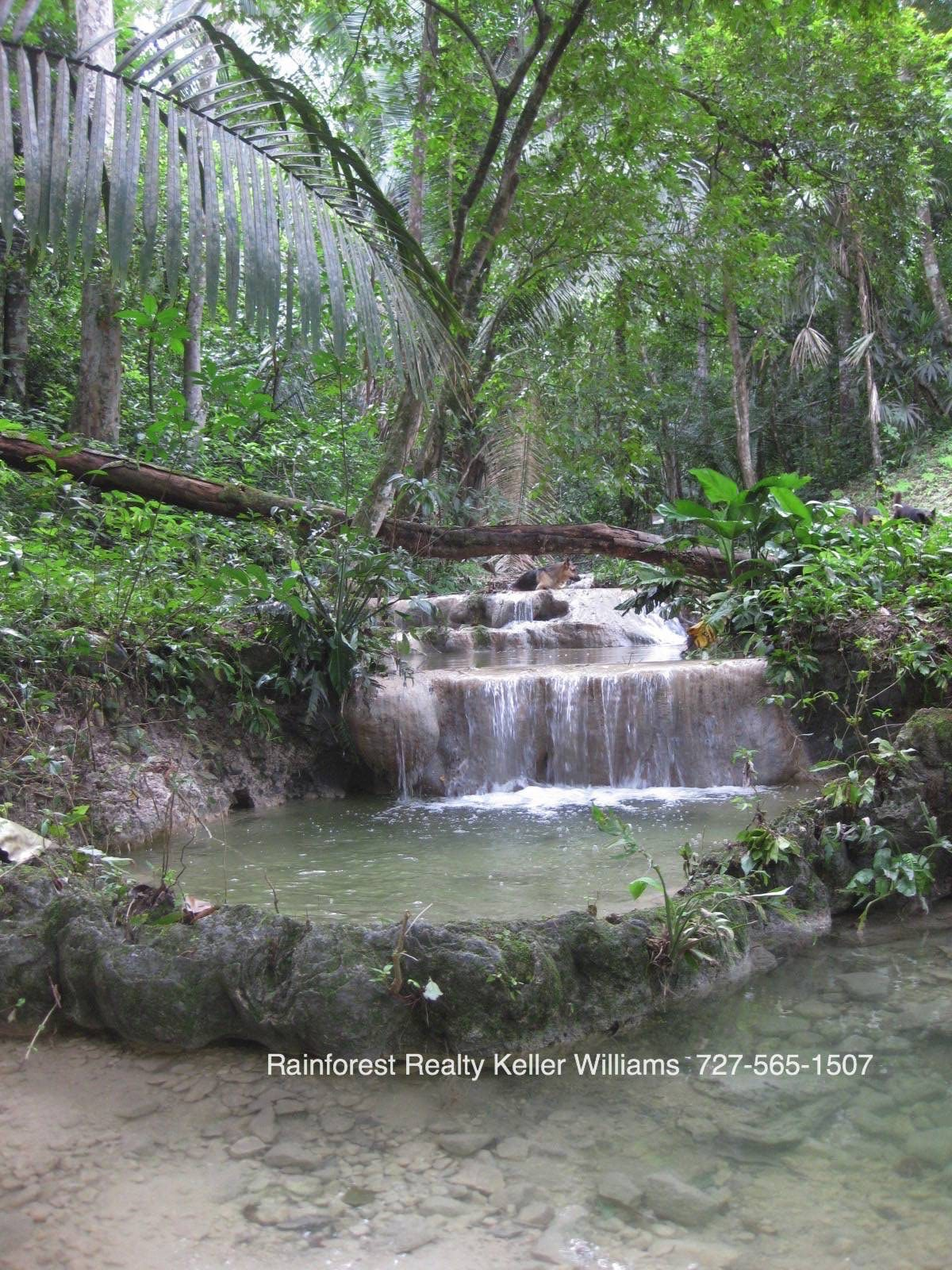 Belize Land with cascading waterfalls on 3 acres