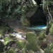 Belize ATM Cave jungle river into the cave