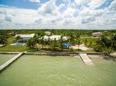Aerial View from the Rear for Ocean Front Belize Corozal Home