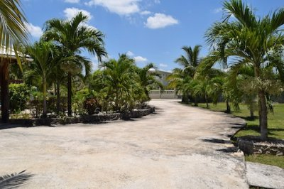 Driveway to Main Gate of Belize Ocean Front Corozal Home
