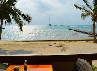 Having my morning coffee in Belize 320px