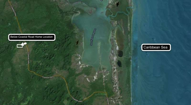 Belize Coastal Road Home Location to all the great Eco Systems of Belize