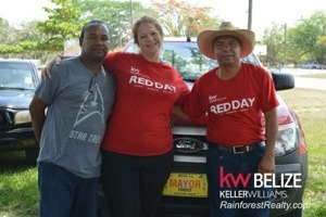 Keller Williams Belize REDDAY Mayor Earl Trapp and Pandy