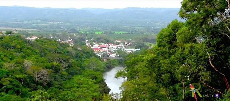 Looking over San Ignacio Belize from the Macal River