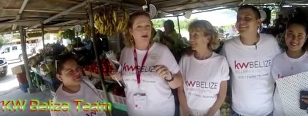 The Give Back Challend Keller Williams Belize Team